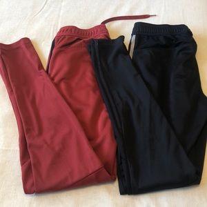2 pairs adidas training pants